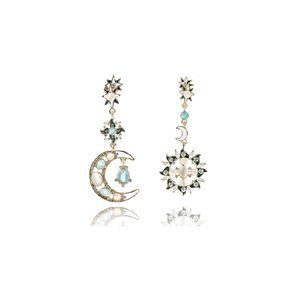 Star Moon-C Asymmetrical Earrings